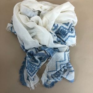 Lightweight Cotton Fringe Large Blanket Scarf